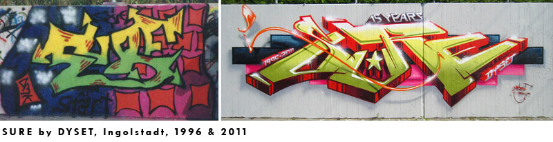 9th 2011 // 15th anniversary wall